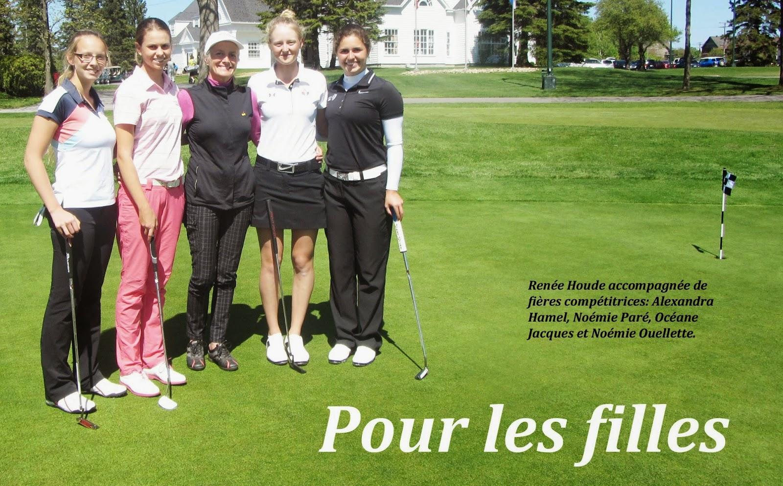 Renée Houde, le golf pour les filles