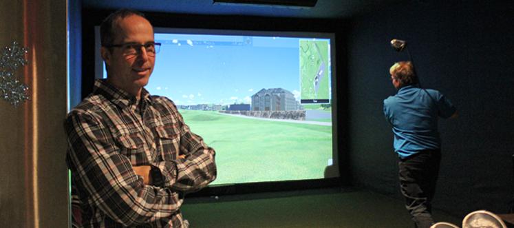 Un simulateur de golf entièrement québécois