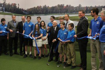 Inauguration du centre intérieur de golf au CDL