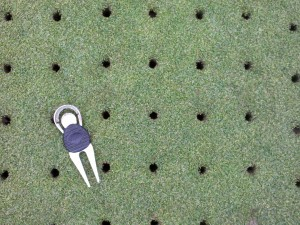 Greens aeration .5inch holes